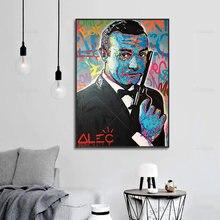 Alec монополистично граффити Бонд абстрактный холст плакат минималистская