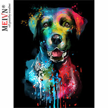 Meivn DIY Oil Paint By Number Kits Scottish fold Dog head Animal Acrylic By Numbers Home Decoration For Living Room Wall Arts(China)