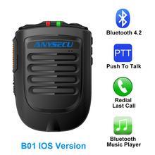 ميكروفون بلوتوث B02 ميكروفون لاسلكي محمول باليد لراديو الجيل الثالث 3G 4G Newwork IP مع هواتف الايزو المحمولة REALPTT ZELLO