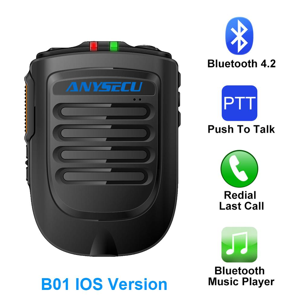 Bluetooth Microphone B02 Handheld Wireless Microphone For 3G 4G Newwork IP Radio With REALPTT ZELLO IOS Mobile Phone