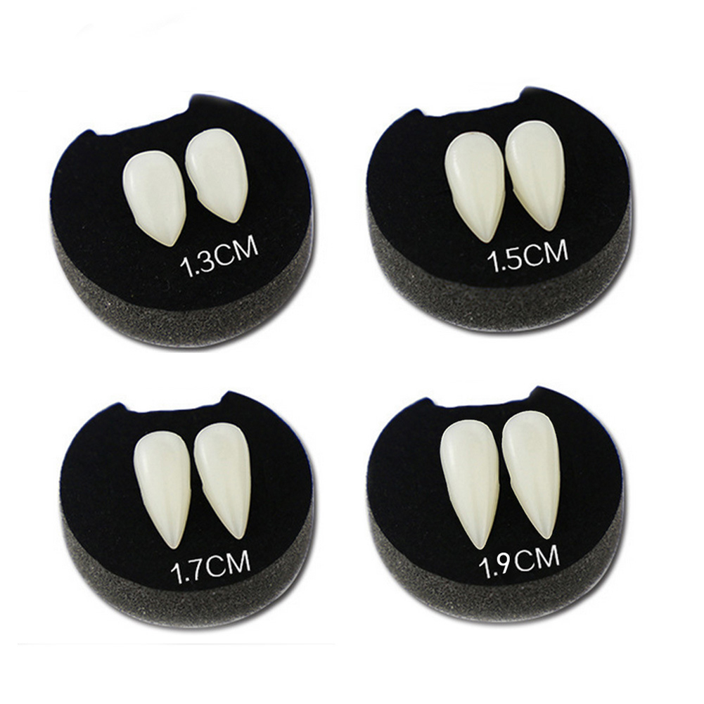 2Pcs Halloween Cosplay Party Favors Fake Luminous Vampire Teeth Fangs Dentures in Party DIY Decorations from Home Garden