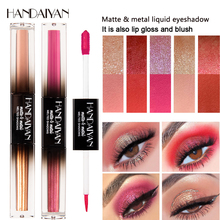 HANDAIYAN 2 In 1 Liquid Eye Shadow Stick Glitter Shimmer Matte Eyes