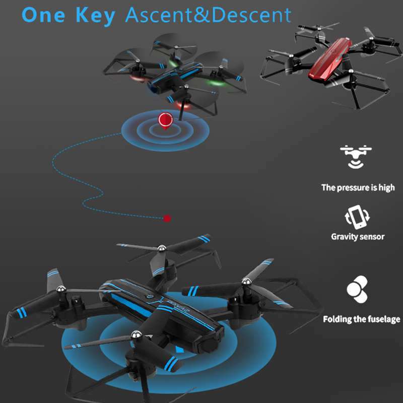 Drone 4 Ch 6-Axis Gyro Intelligent Wireless Aircraft 2 4GHz Drone One Key Take Off Quadcopter UAV Foldable Helicopter