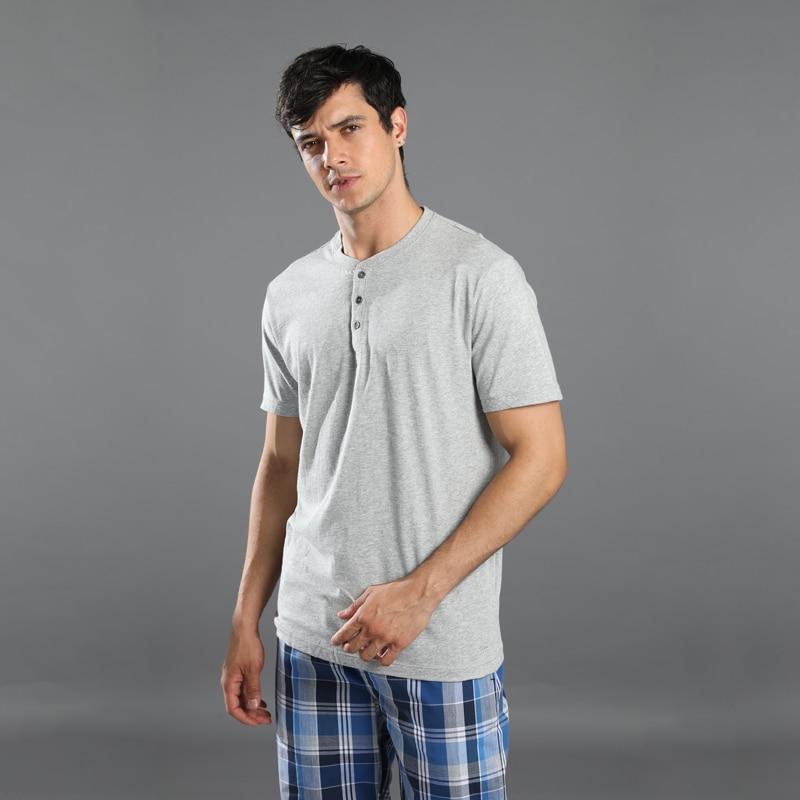 Sale Plus Size 100% Cotton Pyjamas Men Pijamas Hombre Short-sleeve Casual Sleepwear Men Homewear Pajamas Sets For Male 130kg