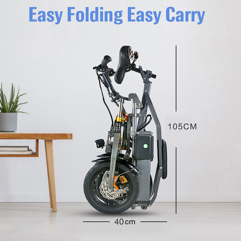 JX003 3 Wheel Electric Scooter E Bike Bicycle foldable High Speed Electric Tricycle with 2 pcs battery 350W Powerful  for Adult 4