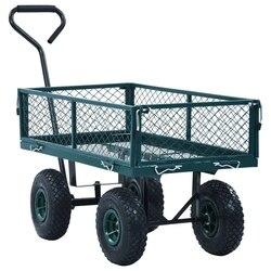 VidaXL chariot de jardin en acier | Accueil, charge maximale 250 Kg chariot de jardin à main, vert