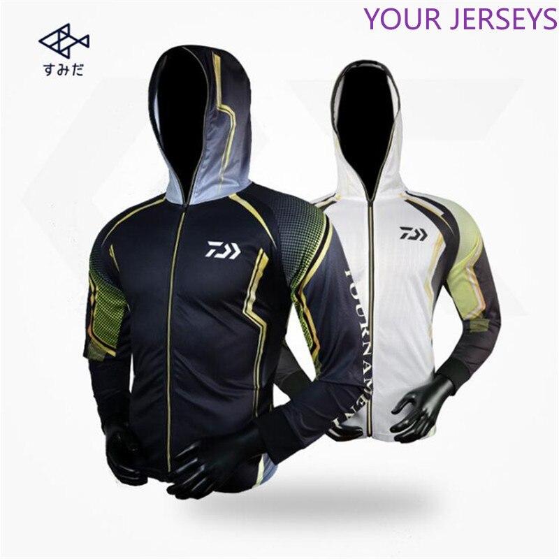 DAIWA Men Long Sleeved Quick-Drying Dawa Fishing Clothing Breathable Anti-UV Sun Protection Shirt Coat Man Sport Clothes