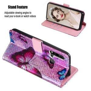 Image 4 - Bling Wallet Flip Leather Cases For Huawei P20 lite Y9 Prime 2019 Honor 20 Pro Nova 5i P Smart Z Mermaids Pattern Bag Back Cover