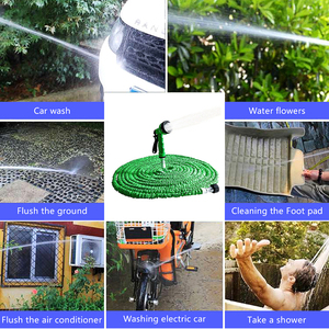 Image 5 - 拡張可能なガーデンホース拡張可能な柔軟な水ホースプラスチック銃魔法/伸縮ホース散水用伸縮性灌漑パイプ