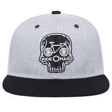 2021 New Arrival Men's Baseball Cap Personality Skull Head Hip Hop Cap Adjustable Snapback Hat Men