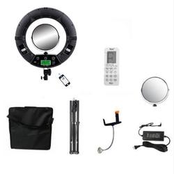 FC-480 Adjust Fashion RGB LED Ring Light 480 LED Video Makeup Lamp Photography Studio broadcast Light +2M stand+ bag