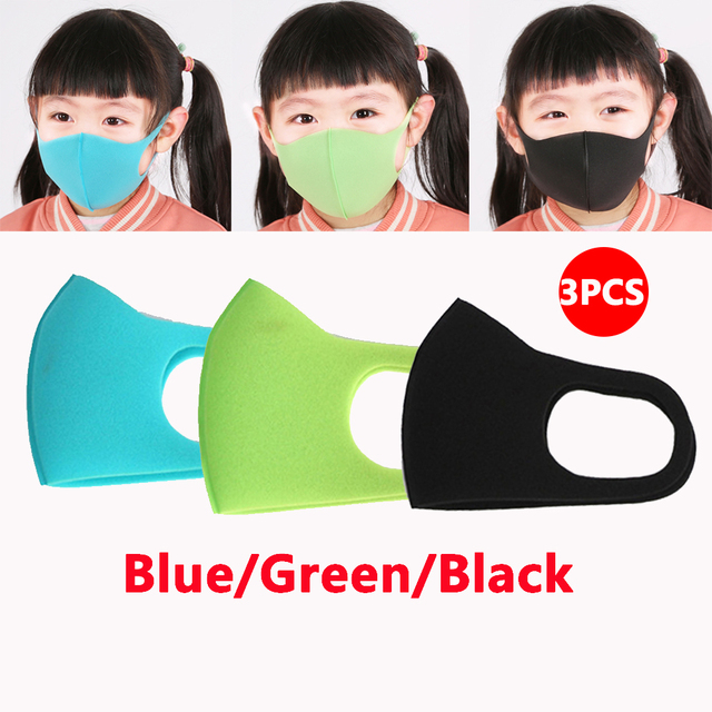 3PCS Childern Mask Sponge Dustproof Masks proof Pollution Cycling Face Mask For Kids 4