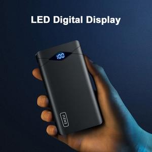 Image 2 - INIU 3A 10000mAh خزان طاقة مزود بإضاءة ليد مزدوج USB محمول شاحن باوربانك بطارية الهاتف الخارجي حزمة آيفون شياو mi mi لسامسونج