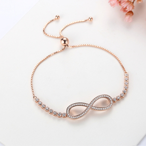 Image 4 - TONGZHE Bracelets en argent Sterling 2019 925 pour hommes, sans fin, or Rose, bijoux à breloques Infinity Tennis Bracelets pour femme