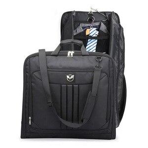 Dihope homens de negócios bolsa de viagem à prova dwaterproof água sacos de bagagem portátil bolsa à prova de poeira terno saco de armazenamento com sapatos bolsa