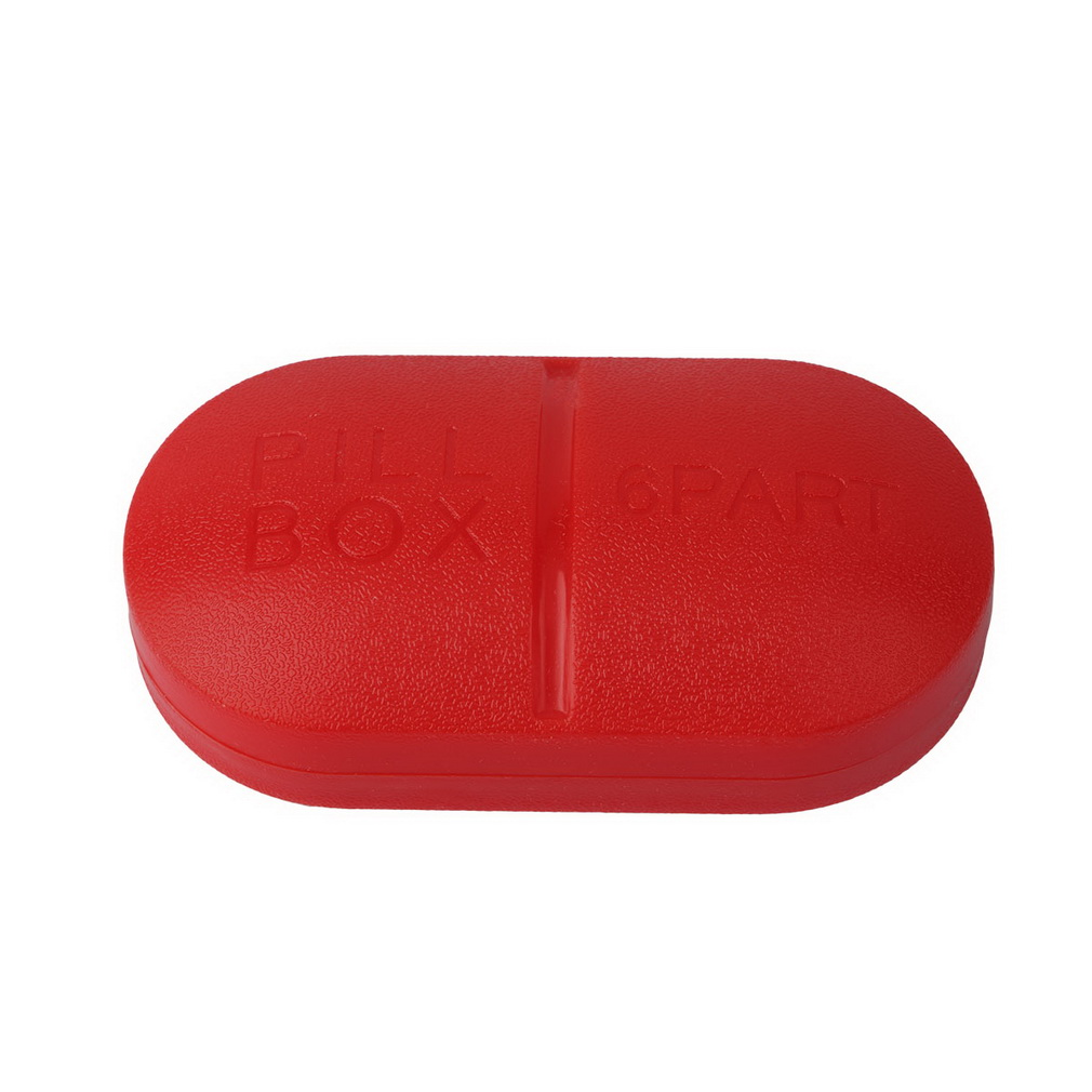 2018 Pill Storage Box Portable Travel Emergency First Aid Kits 6-Slot Medical Pill Box Holder Medicine Drug Case For Security