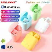 Mini-2 tws fones de ouvido sem fio bluetooth 5.0 fones de ouvido esportes fone de ouvido com caixa de carregamento para todos os smartphones pk i9s i7s