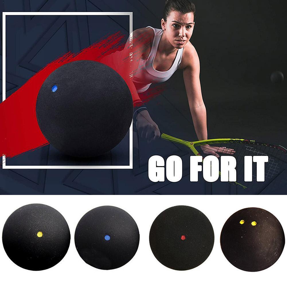 1pcs 37MM Professional Squash Ball Yellow Dot Low Speed Packing Training Squash Rubber Dot Blue Ball Ball Tube J1Q7