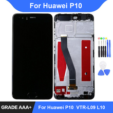 For Huawei P10 LCD Display Touch Screen Digitizer Assembly Repair Parts for Huawei P10 Display with Frame Replacement недорго, оригинальная цена