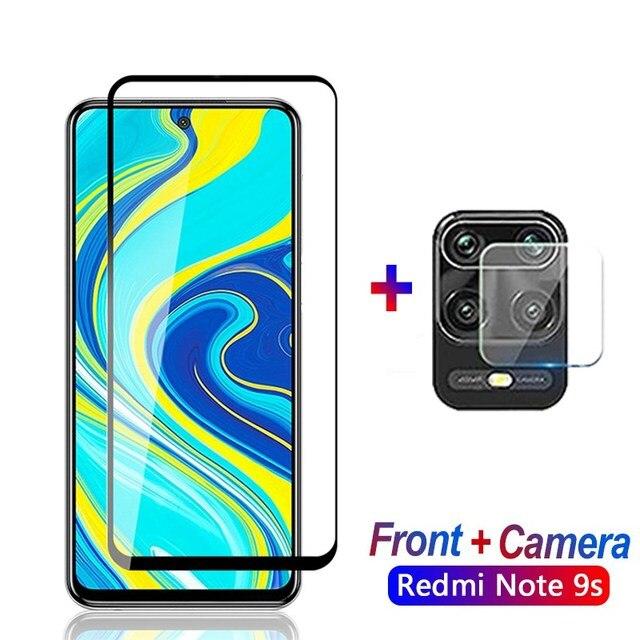 2w1 szkło ochronne dla Xiaomi Redmi 7A uwaga 7 8 pro 8T 9s obiektyw Film dla Xiaomi Redmi note8 pro uwaga 9 osłona ekranu aparatu