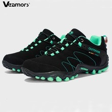 VEAMORS Men Outdoor Hiking Shoes Women Casual Jogging Sneakers Non slip Durable Tourism Camping Climbing Shoes Unisex