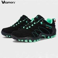 Veamors男性屋外ハイキングシューズ女性カジュアルジョギングスニーカー耐久観光キャンプ登山靴ユニセックス
