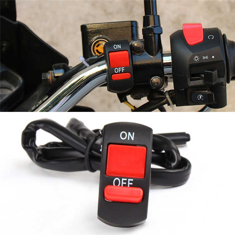 Stang Sepeda Motor Gunung ATV Dirt Bike Tombol On-Off Switch Double Flash Berbahaya Lampu LED Lampu Lampu Depan Controller Switch