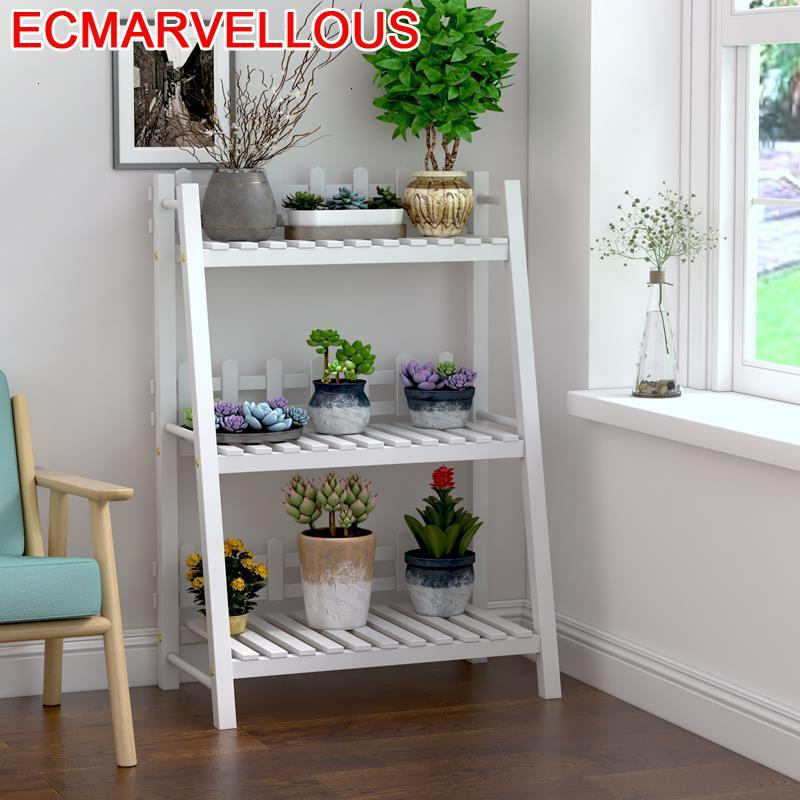 Madera Etagere Plante Rak Bunga Balkon For Pot Saksi Standi Indoor Outdoor Balcony Flower Shelf Stojak Na Kwiaty Plant Stand