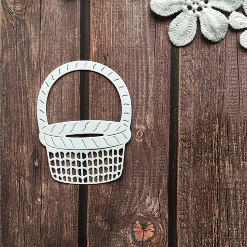 Flower Basket Metal Cutting Dies Stencils For DIY Scrapbooking Album Paper Card Decorative Craft Embossing Die Cuts New 2018