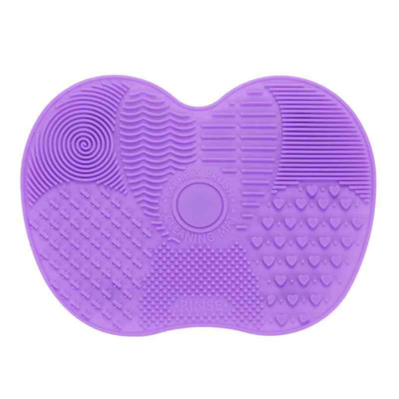 קרן איפור מברשת Scrubber לוח סיליקון איפור מברשת Pad מנקה איפור כביסה מברשת ג 'ל ניקוי מחצלת יד כלי