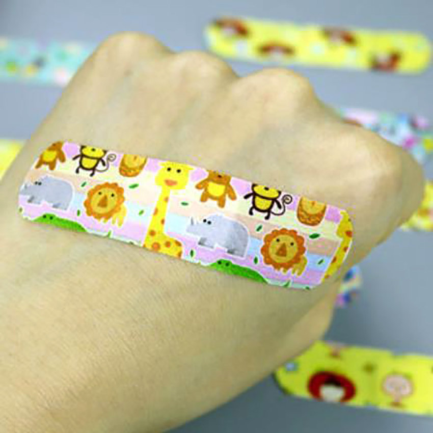 120pcs/set Cute Cartoon Colorful Waterproof Breathable Bandages, Children Aid Hemostasis Adhesive First Aid Emergency Supplies