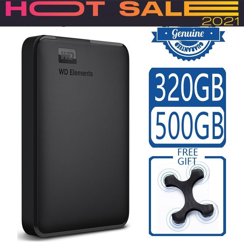 Elements 500gb Portable External Hard Drive Disk Usb 3.0 Hd Hdd Capacity Sata Storage Device Original For Computer Pc Ps4 Tv