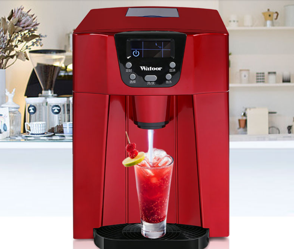 HZB-12D 12kgs/24H Portable Automatic ice Maker, Household bullet round ice make machine for family, small bar,coffee shop 220V