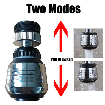 ZhangJi 360 Rotating Water Saving Tap Connector Dual Mode Kitchen Faucet Aerator Diffuser Bubbler Filter Shower Head Nozzle 4