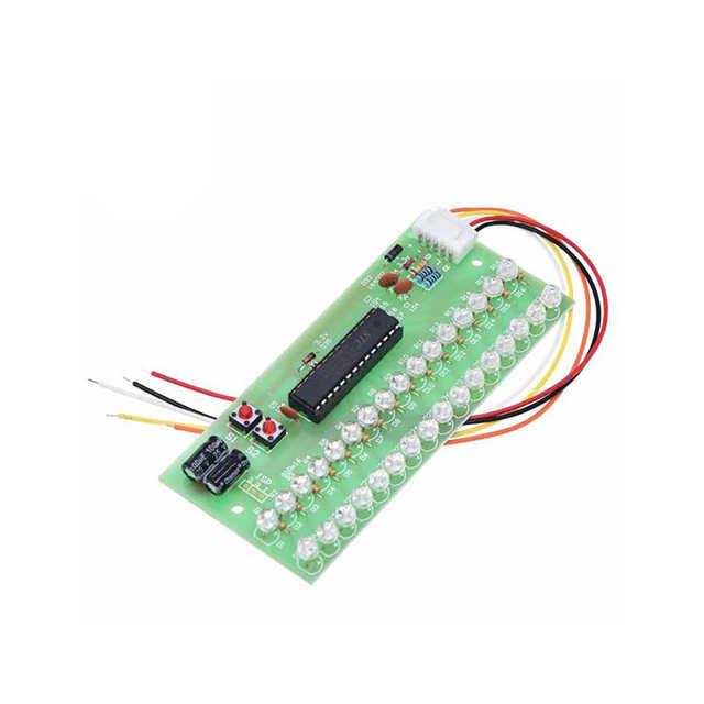 A18-- MCU ปรับรูปแบบการแสดงผล LED VU Meter ตัวบ่งชี้ระดับเครื่องขยายเสียง 16 LED Dual Channel สีเขียว DC 8V ถึง 12V