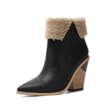 New Women Shoes Boots Winter Warm with fur Ankle Big Size 34-45