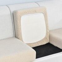 De Color sólido para sofá funda para cojín de asiento de lana Polar Stretch sofá cubre para la sala de cubierta de la silla de mascotas muebles Protector