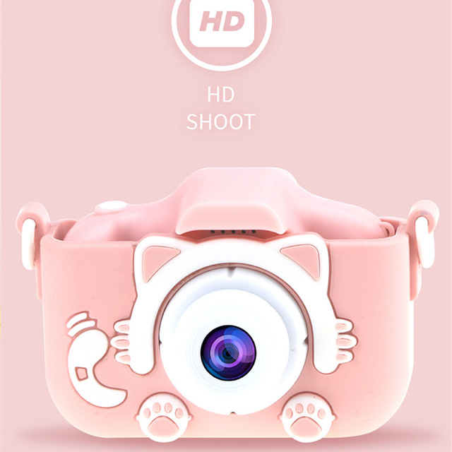 X5S Children's Camera Cute Toy Cat Mini Digital Camera IPS Screen Education Toys For Kids Camera for Children Birthday Gift 2