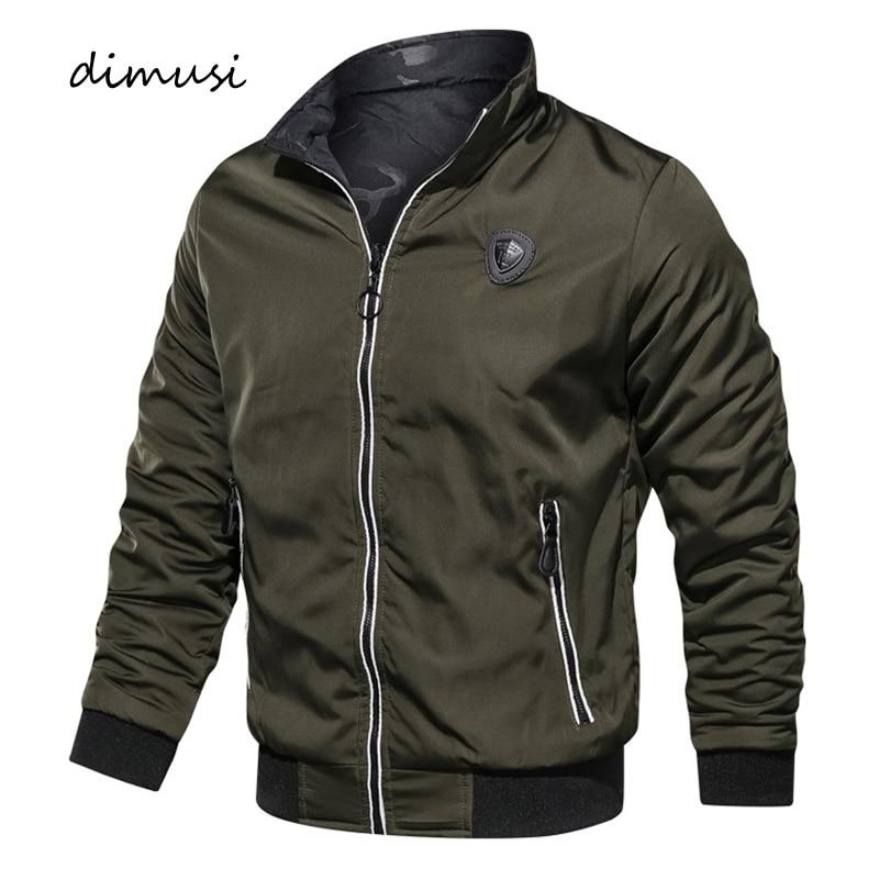 DIMUSI Winter Men Bomber Jacket Men Both-Side Wear Thermal Cotton Thick Parkas Coats Casual Male Windbreaker Baseball Jackets