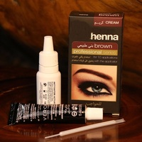 Henna Natural Eyebrow Dye Gel Professional Color Tint Cream Kit 15 minute Fast Tint Brown & Black Available Easy Dye Eyerows Henna Makeup Paint Pomade Cosmetic Makeup Shadow For Eye Brow Wax Long Lasting