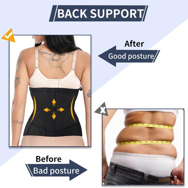 Women Neoprene Sweat Waist Trainer Corset Trimmer Belt for Women Weight Loss Waist Cincher Shaper Slimming Belt Shapwear 4