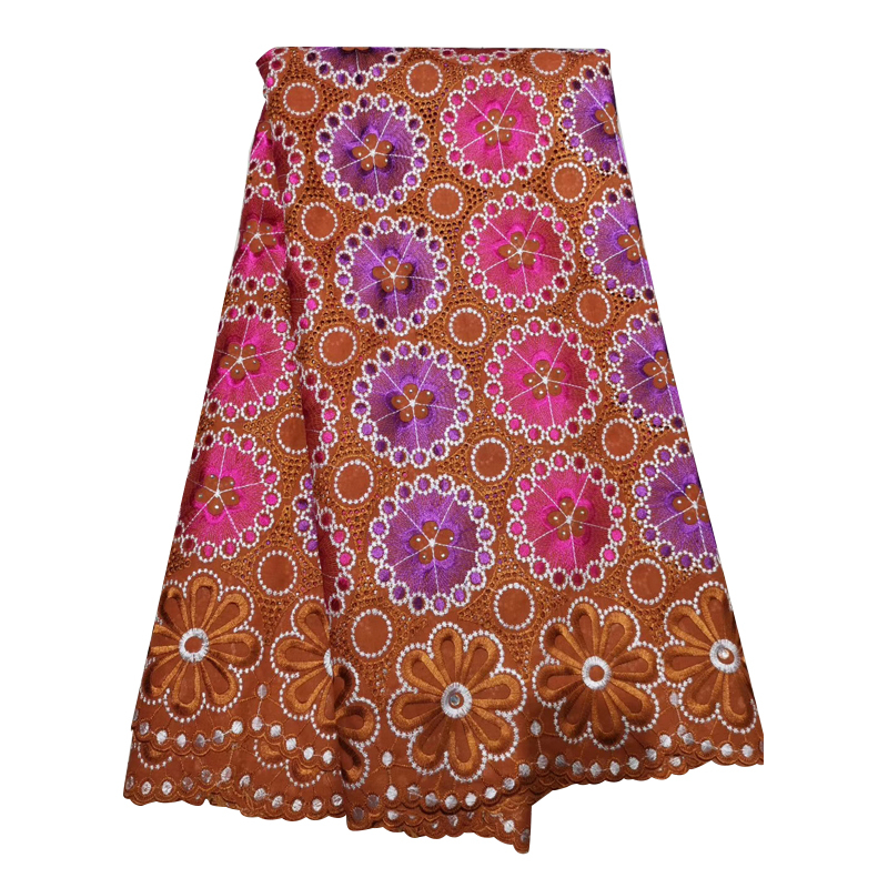 Best Selling Flower African George Lace Fabrics 2020 High Quality Embroidered Nigerian French Lace Fabric With Stones DIY Sewing