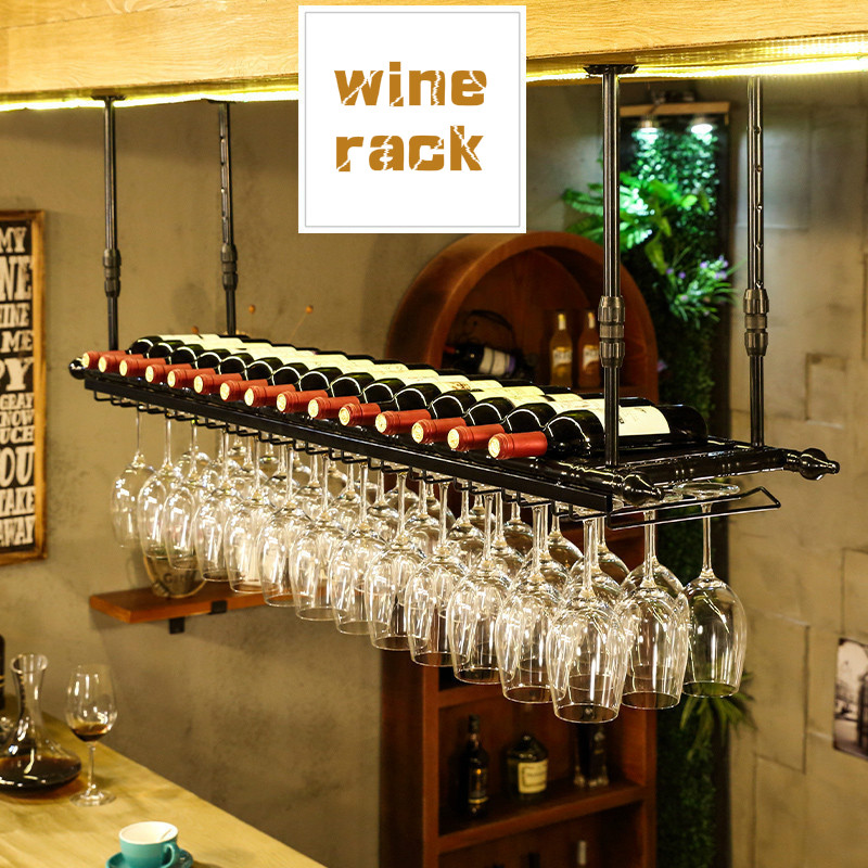 Wine Glass Rack Household European Wine Rack Bar Decoration Creative Hanging Goblet Rack Christmas Decoration for Home image