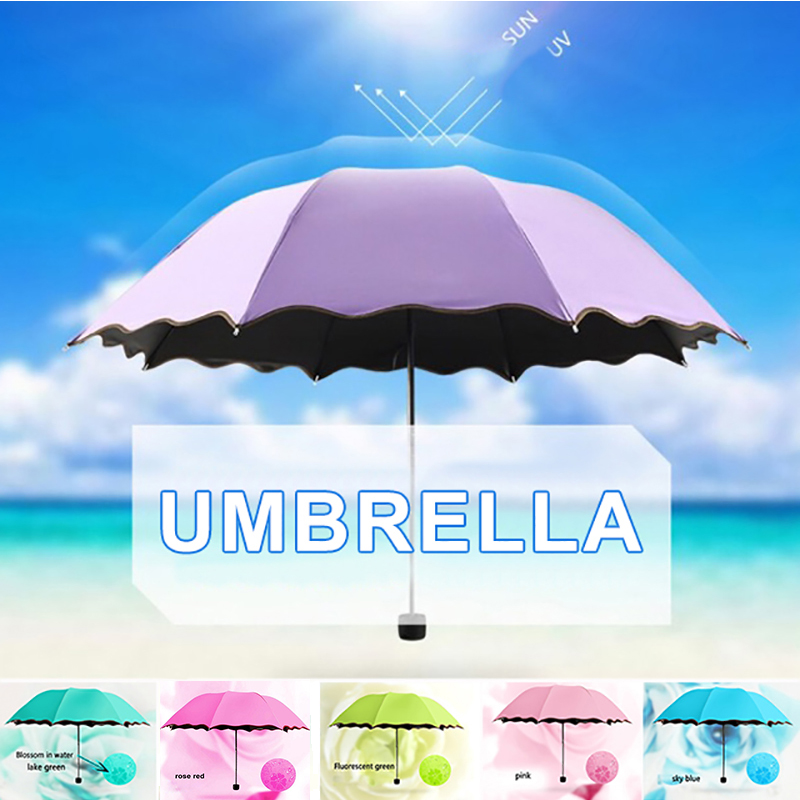 Flower Anti UV Inverted Umbrella foldable Sunny Rain Protection Reverse Windproof Best Gift Drop shipping