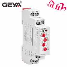 Free Shipping GEYA GRI8 04 Over Current and Under Current Protection Relay 0.05A 1A 2A 5A 8A 16A Current Monitoring Device