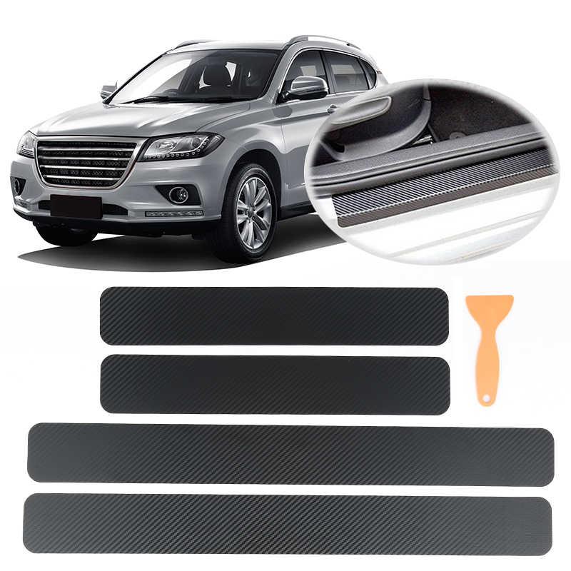 4 Pcs/1 Roll Tahan Air 3D Warna Film Vinil Stiker Mobil DIY Carbon Fiber Stiker Bungkus Roll Perekat Mobil styling untuk Interior Exterio