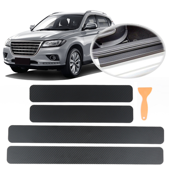 4PCS/1 roll Waterproof 3D Tint Vinyl Film Car Sticker DIY Carbon Fiber Decal Wrap Roll Adhesive Car Styling for Interior Exterio image