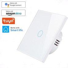 WIFI Wand Touch Sensor Schalter EU RF433 + WIFI Smart Licht Schalter 1 2 3 Gang 220V Tuya Smart home Kit Unterstützung Alexa Google Hause