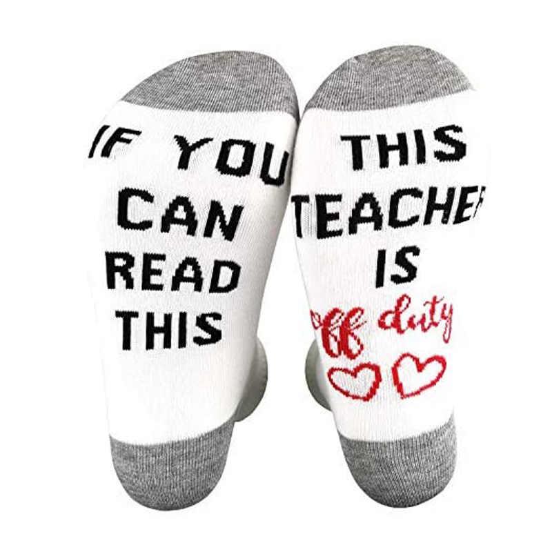 Teacher Socks Teacher Gift First Day of School Teacher Appreciation Back To School --62224-SOX1-603 Alphabet Custom Sock Teacher Life