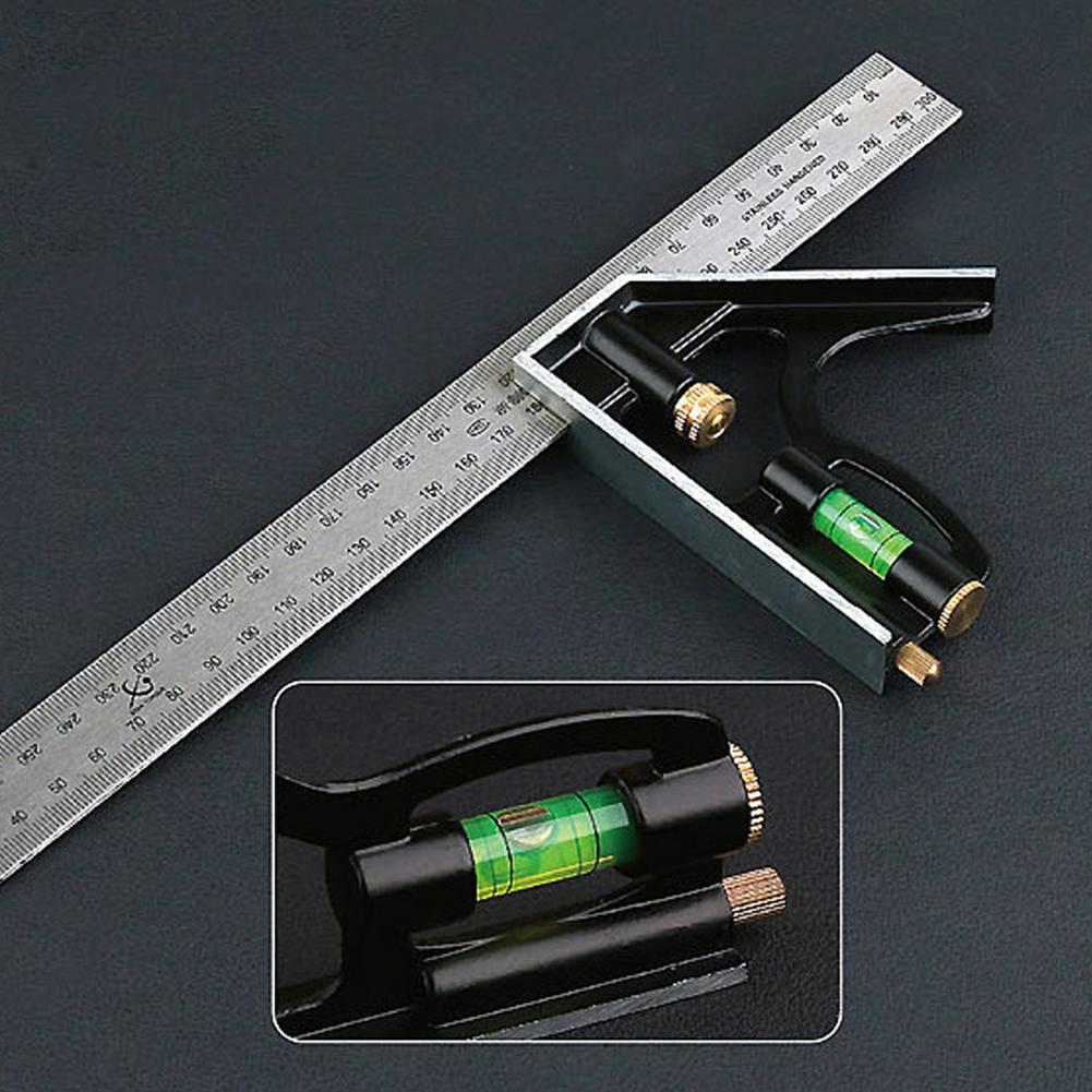 300mm Combination Square Angle Ruler Stainless Steel Multi-function Measure Tool
